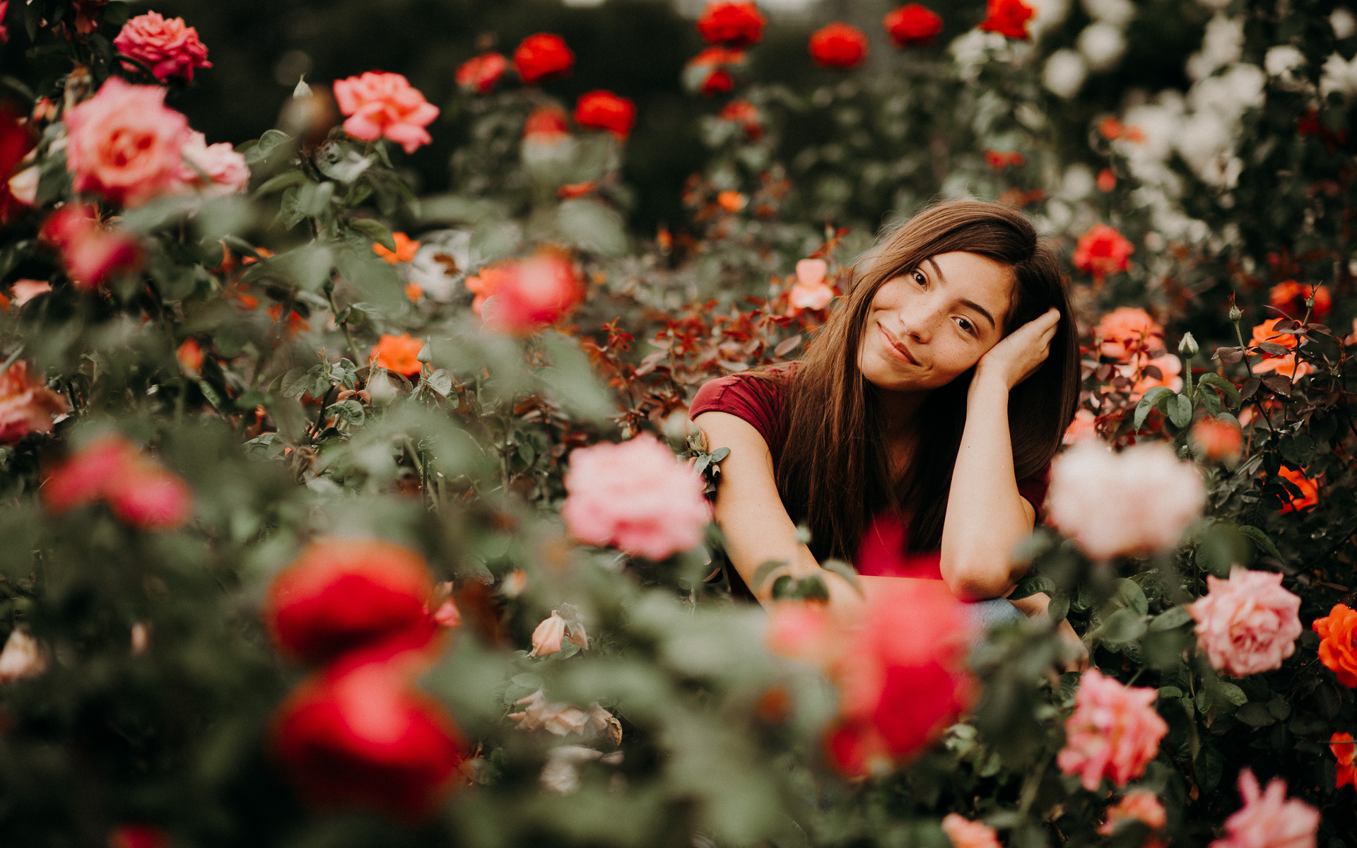 rose garden senior portraits lincoln nebraska