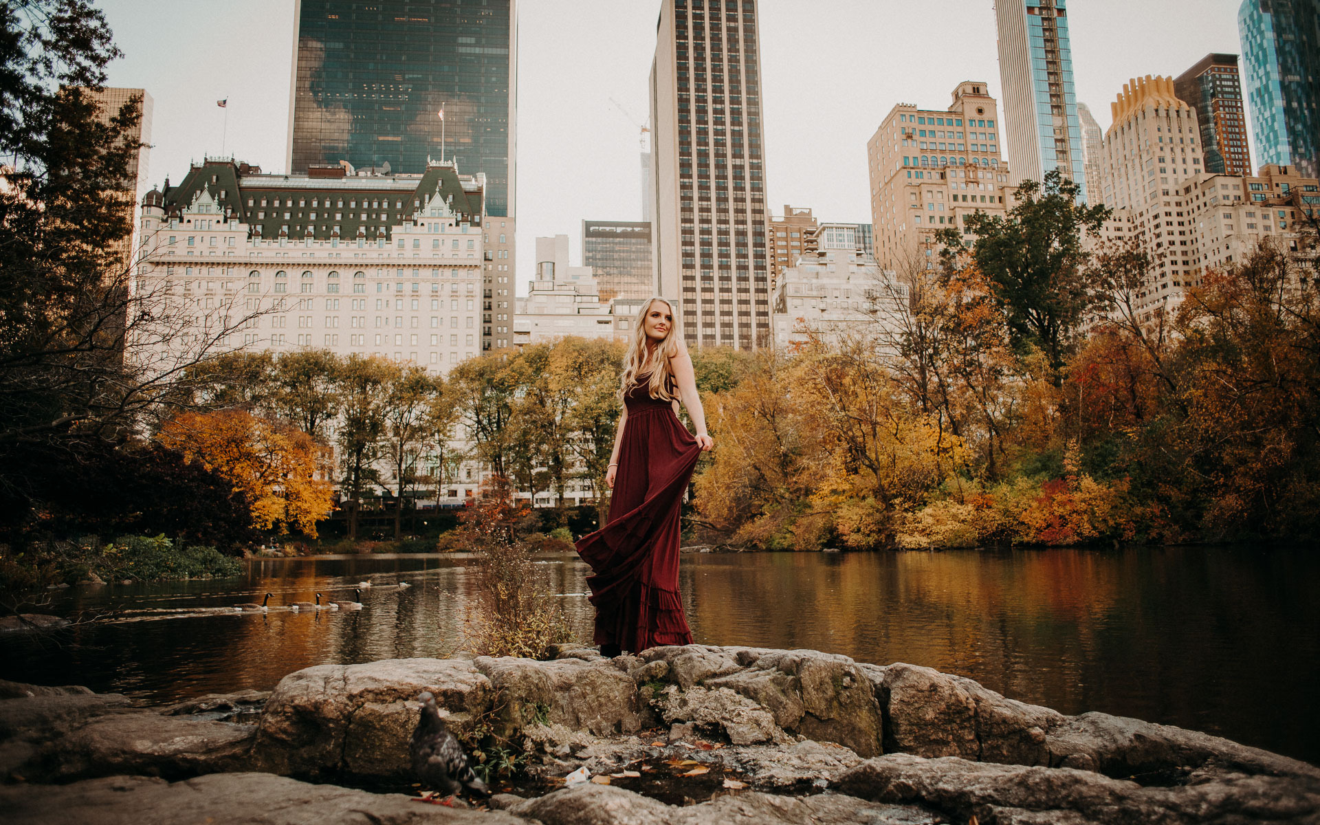 NYC fall senior portraits